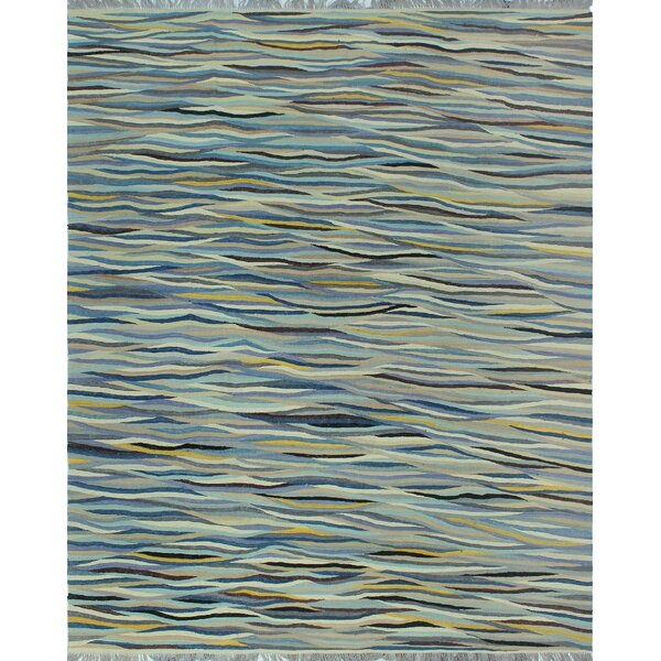 One-of-a-Kind Ronna Hand-Woven Wool Blue Area Rug by Isabelline