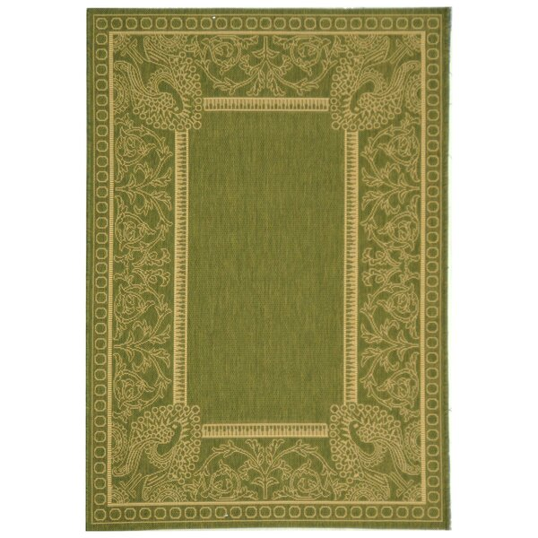 Catori Olive/Natural Rug by World Menagerie
