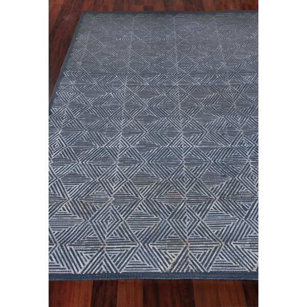 Pavillion Hand-Woven Wool Navy Area Rug by Exquisite Rugs