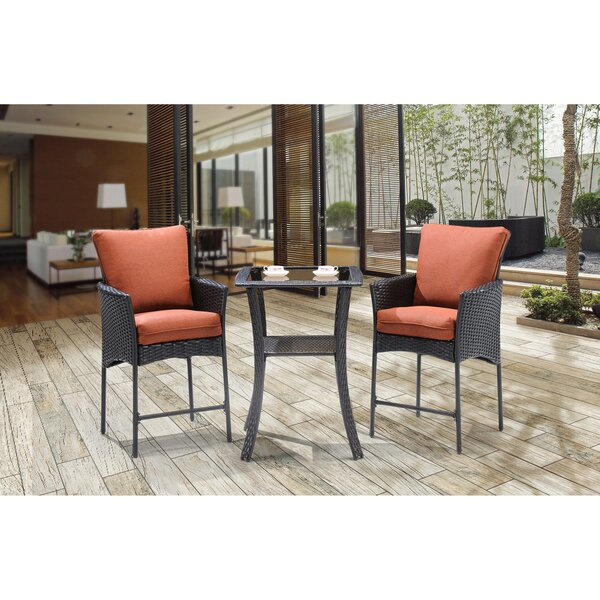 Billington 3 Piece Bar Table Set with Cushions by Brayden Studio