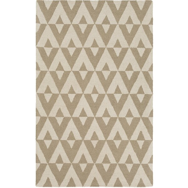 Zabel Hand-Tufted Sand/Ivory Area Rug by George Oliver
