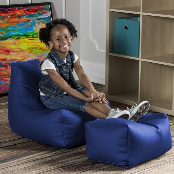 Small Faux Leather Bean Bag Chair & Lounger By Zoomie Kids