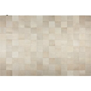 Find the perfect Laser Lines Cowhide Hand-Woven Off White Area Rug By Modloft