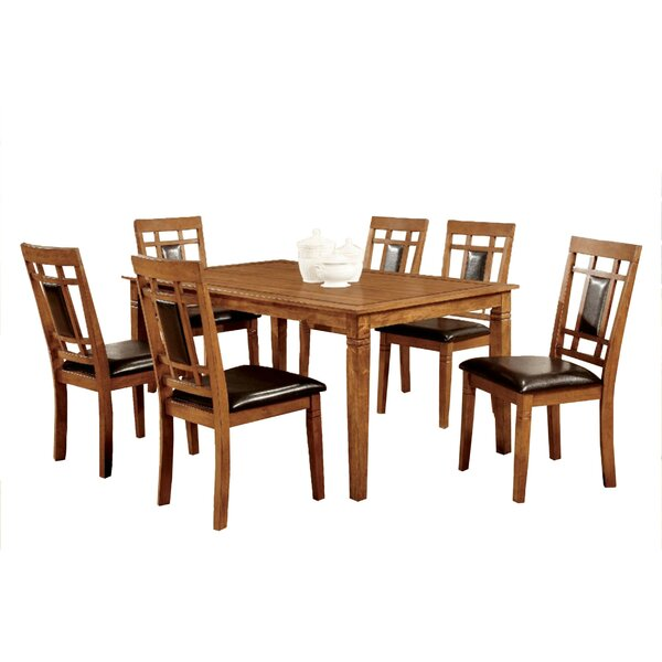 West Broadway Transitional 7 Piece Dining Set by Millwood Pines Millwood Pines