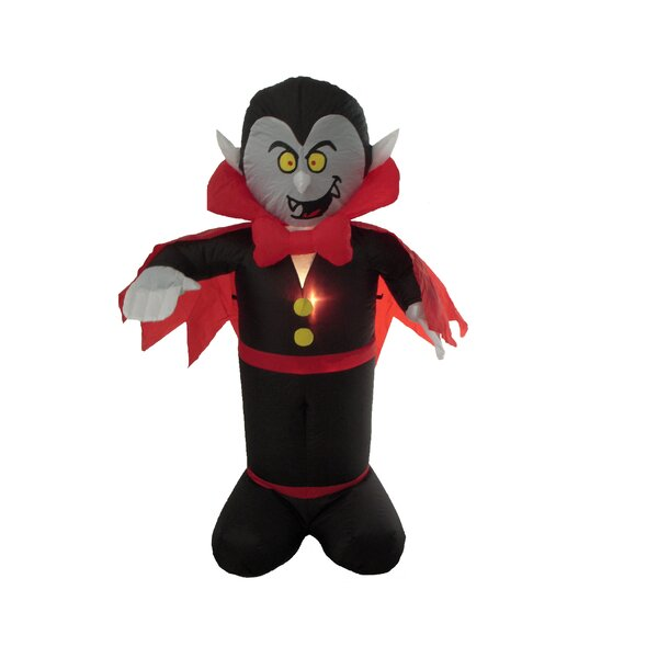 Halloween Inflatable Freestanding Vampire Decoration by The Holiday Aisle