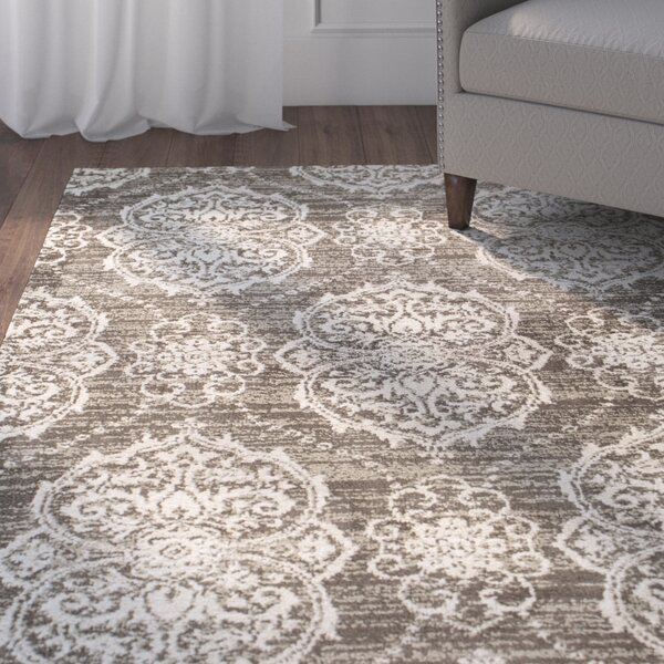 Coeymans Taupe/Ivory Area Rug by Charlton Home