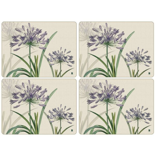 R.H.S. Agapanthus Placemat (Set of 4) by Pimpernel