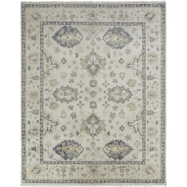 Neerav Hand Knotted Wool Ivory Area Rug by Darby Home Co
