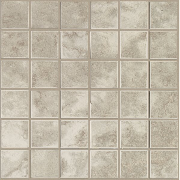 Pavin Stone 2 x 2 Ceramic Mosaic Tile in Gray Flannel by Mohawk Flooring