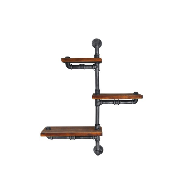 Cilley Industrial Floating Pipe Wall Shelf by 17 Stories
