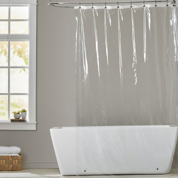 5 Gauge Vinyl Shower Curtain Liner by Symple Stuff