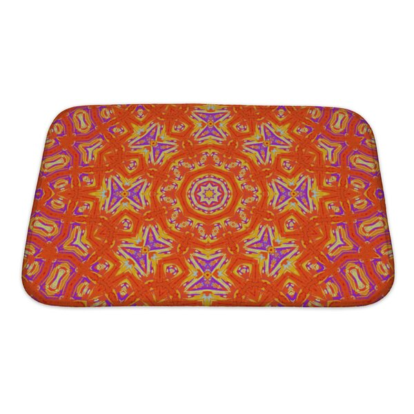 Simple Bright Abstract with Concentric Pattern Bath Rug by Gear New