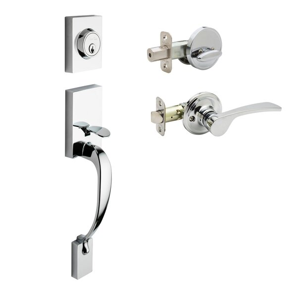 Rustic Modern Style Active Handleset with Kash Lever Interior Trim by Copper Creek