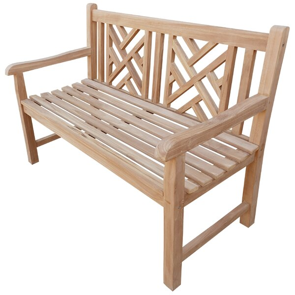 Freya Teak Garden Bench by Rosecliff Heights Rosecliff Heights