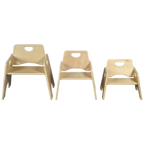 8 Solid Wood Classroom Chair (Set of 2) by ECR4kids