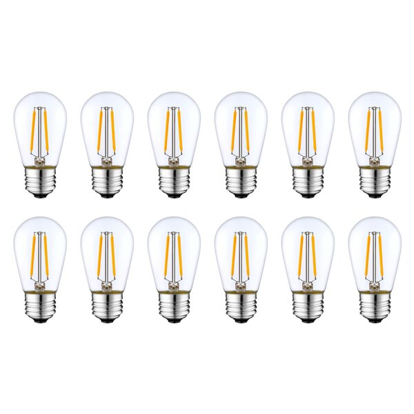 2W E26/Medium Dimmable LED Edison Light Bulb (Set of 12) by String Light Company