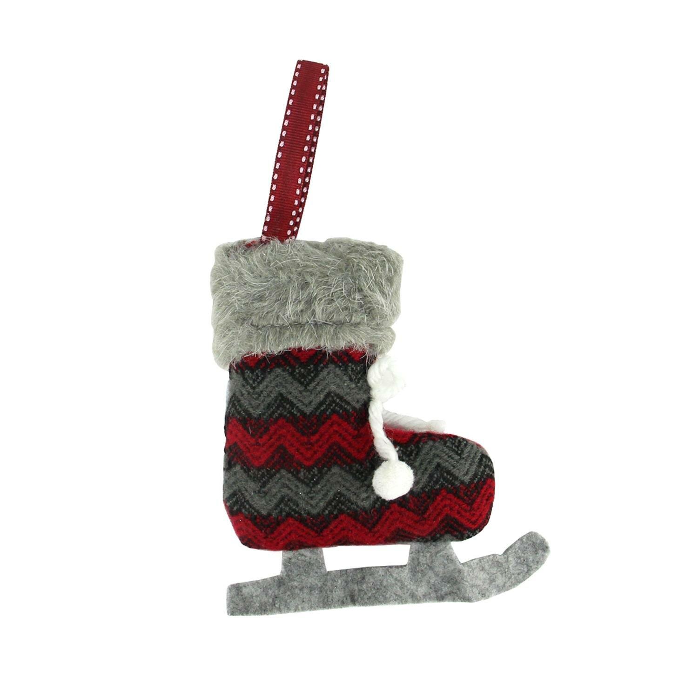 Northlight Chevron Plush Knit Ice Skate Christmas Ornament   Wayfair