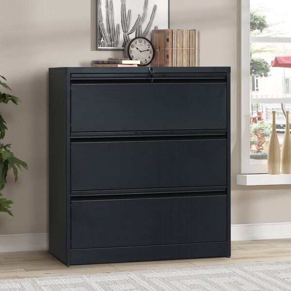 Diaz 3 Drawer Lateral Filing Cabinet by Rebrilliant