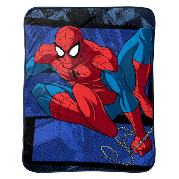 Marvel Spiderman Burst Plush Throw by Shopkins