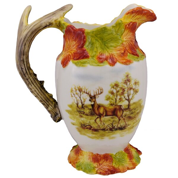 Hunt Harvest Deer Pheasant Pitcher by Kaldun & Bog