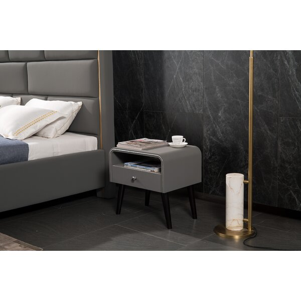 Desilva 1 Drawer Nightstand by George Oliver