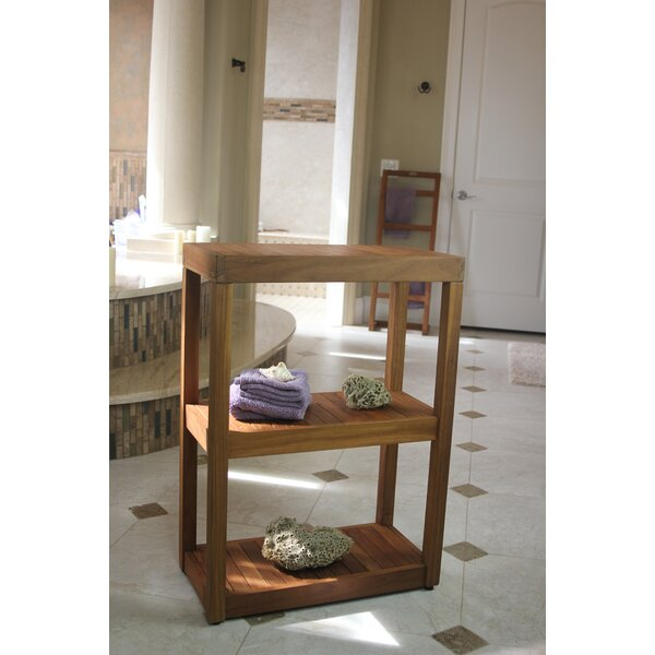 24 W x 34 H Bathroom Shelf by Aqua Teak