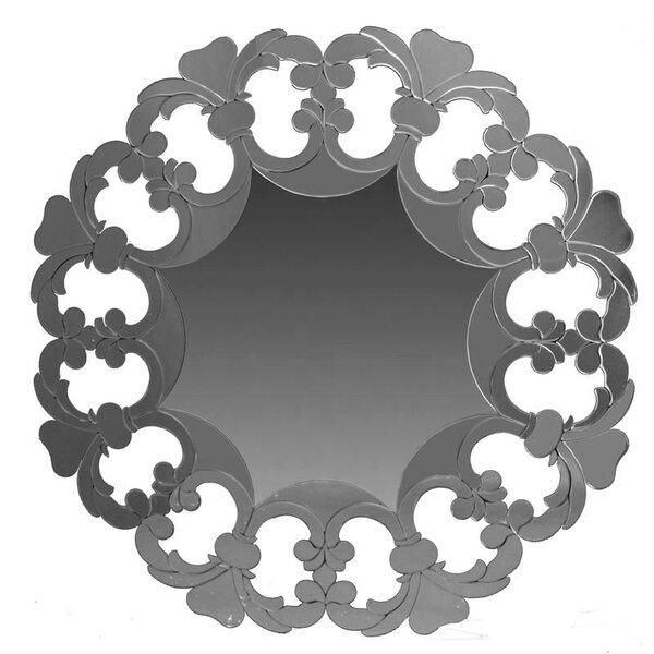 Lemanski Wooden Round Accent Mirror by Rosdorf Park