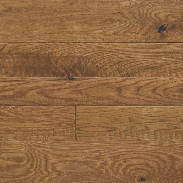 Random Width Engineered Oak Hardwood Flooring in Buttercup by Somerset Floors