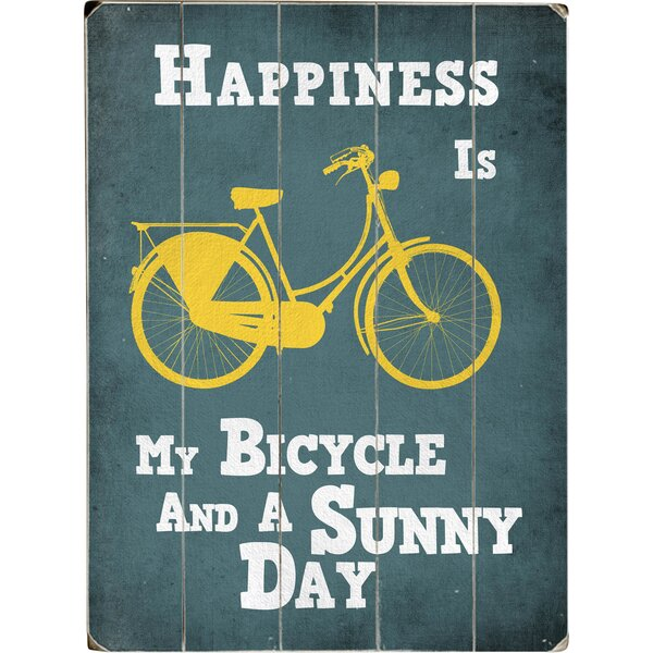 My Bicycle and a Sunny Day Graphic Art Print Multi-Piece Image on Wood by Artehouse LLC