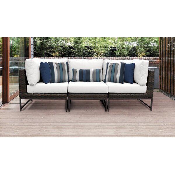 Barcelona Patio Sectional with Cushions by TK Classics