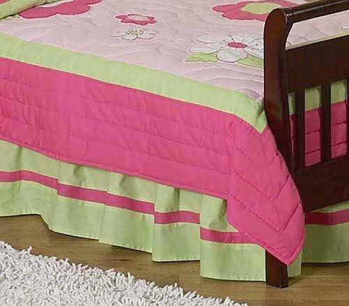 Flower Toddler Bed Skirt by Sweet Jojo Designs
