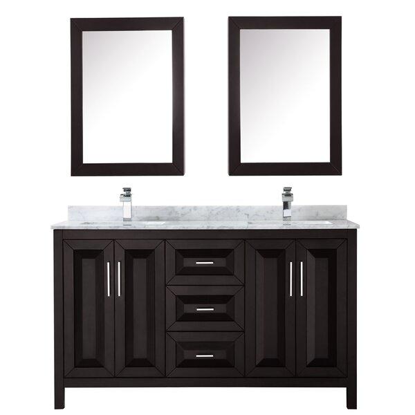 Daria 60 Double Bathroom Vanity Set with Medicine Cabinet by Wyndham Collection