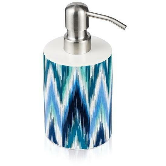Resler Ikat Ceramic Stainless Steel Soap Dispenser by World Menagerie