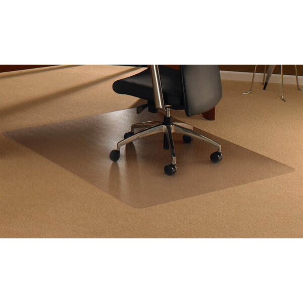 Cleartex High Pile Carpet Straight Edge Chair Mat by Floortex