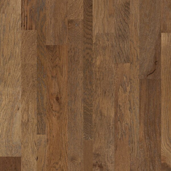 Hastings Random Width Engineered Hickory Hardwood Flooring in Pioneer by Shaw Floors
