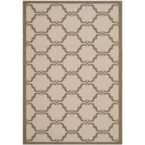 Plunkett Tile Beige/Brown Indoor/Outdoor Area Rug by Charlton Home
