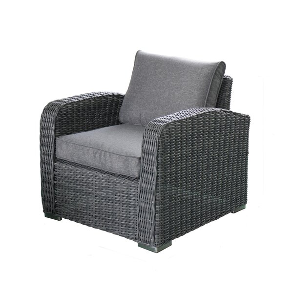 Lyndalia Deep Seating Chair with Cushion (Set of 2) by Rosecliff Heights