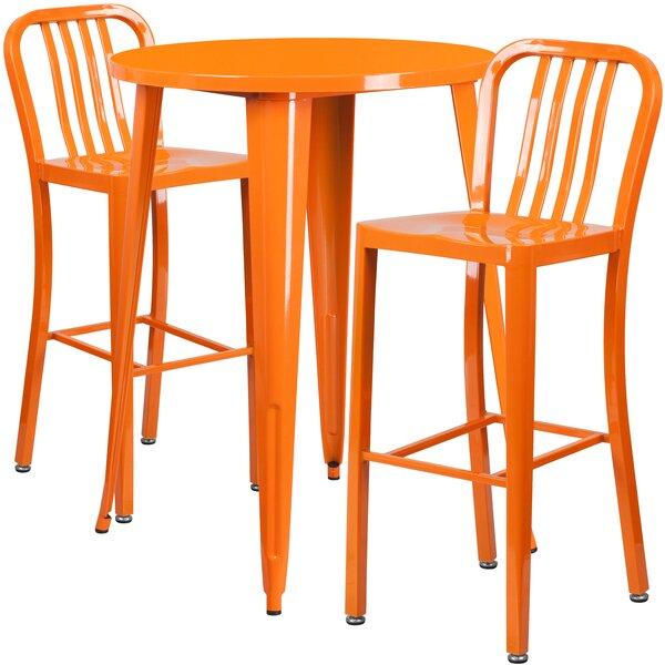 Avera 3 Piece Bar Height Dining Set by Latitude Ru