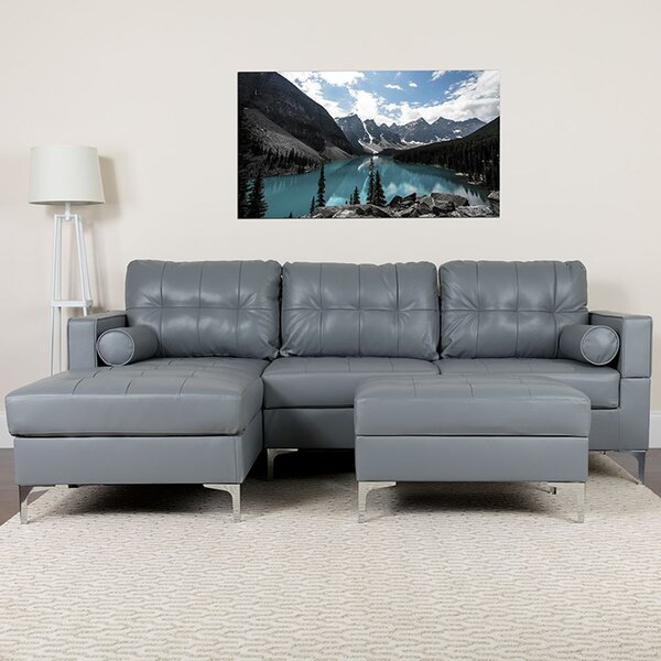 Reita Sectional with Ottoman by Orren Ellis