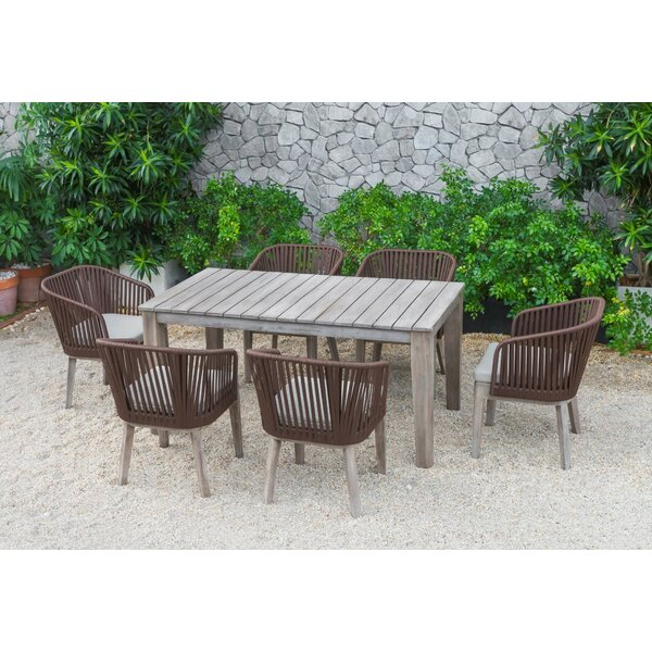 Abancourt Outdoor 7 Piece Dining Set by Gracie Oaks
