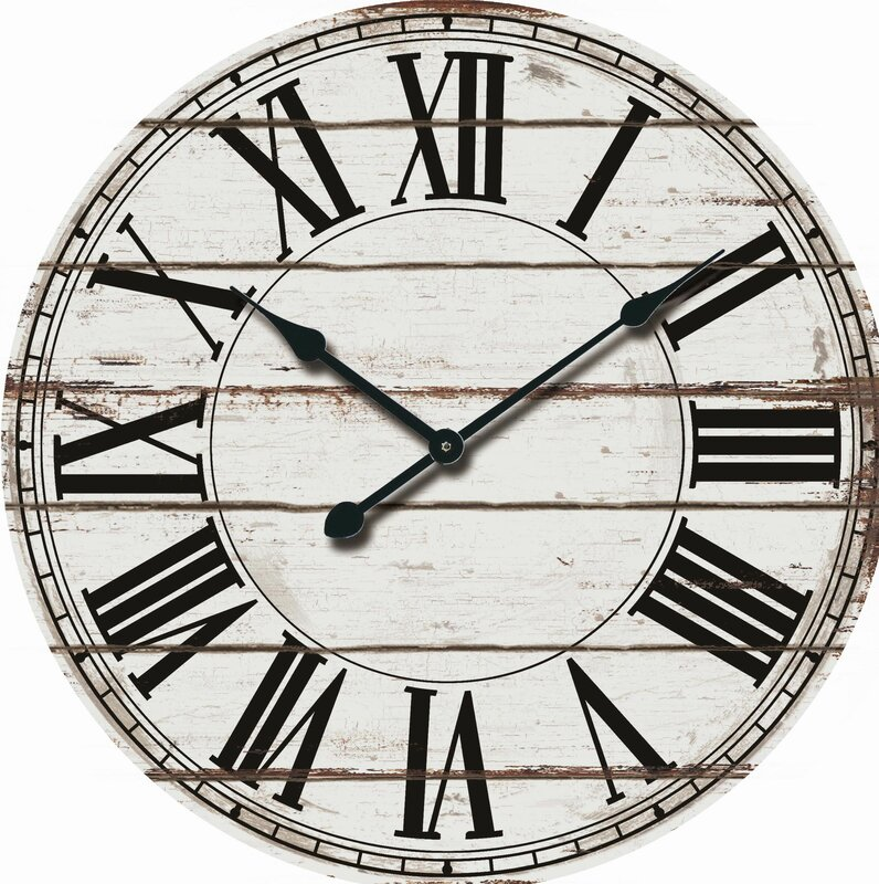 "Oversized Rustic Wood 24"" Wall Clock #rusticdecor #wallclock"