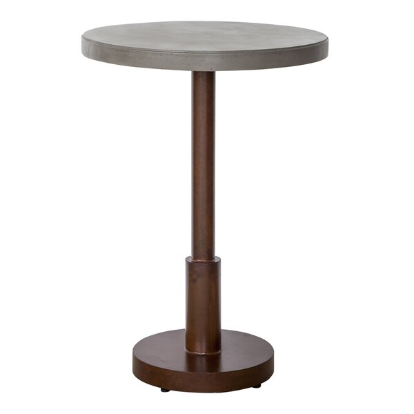 Pedersen Stone Bar Table by 17 Stories