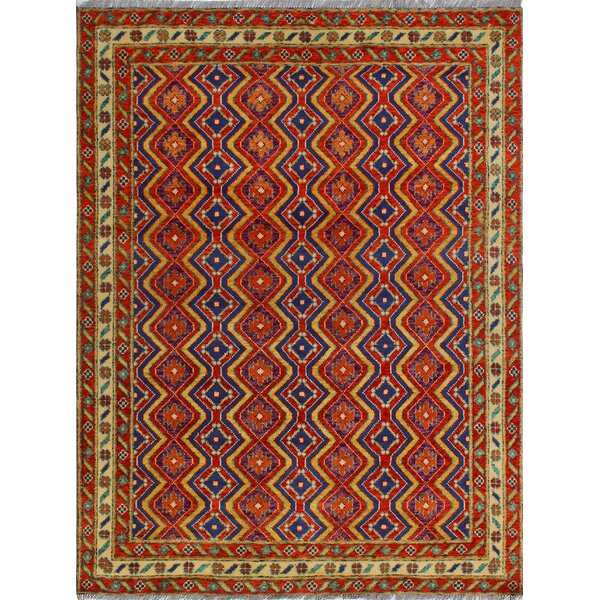 One-of-a-Kind Millender Saidah Hand-Knotted Wool Red Area Rug by Bloomsbury Market