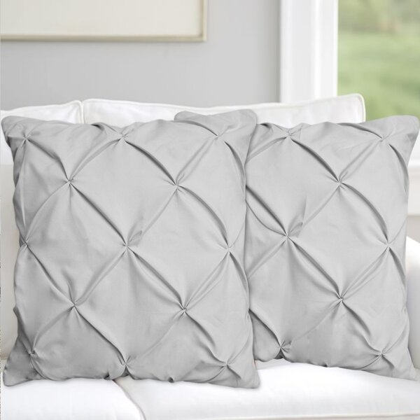 Taya Pinch Pleat Pintuck Throw Pillow (Set of 2) by House of Hampton| @ $37.99