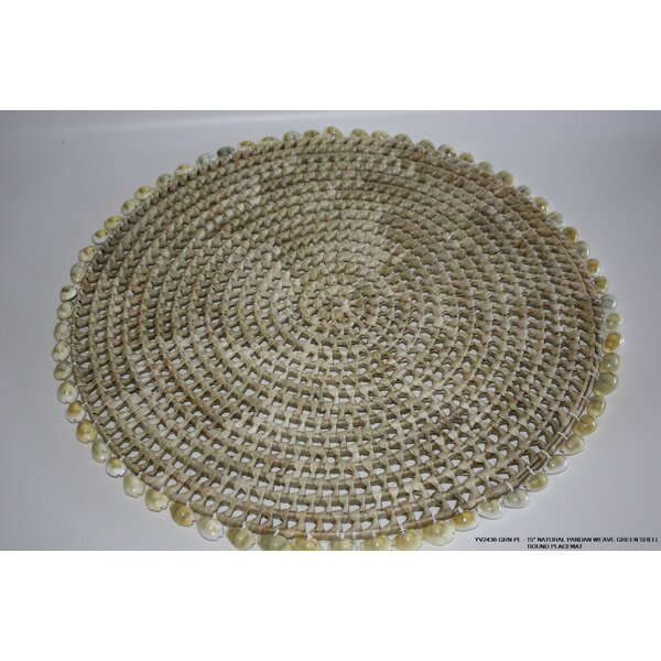 Natural Pandan Weave Shell Placemat (Set of 4) by Desti Design
