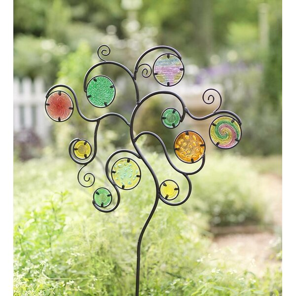 Glass Circle Metal Garden Stake by Wind & Weather