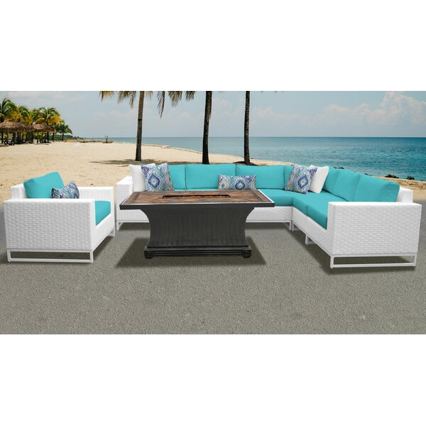 Miami 8 Piece Sectional Set with Cushions by TK Classics