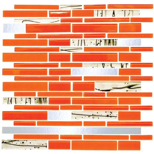 Signature Line Bright Glass Mosaic Tile in Orange by Susan Jablon