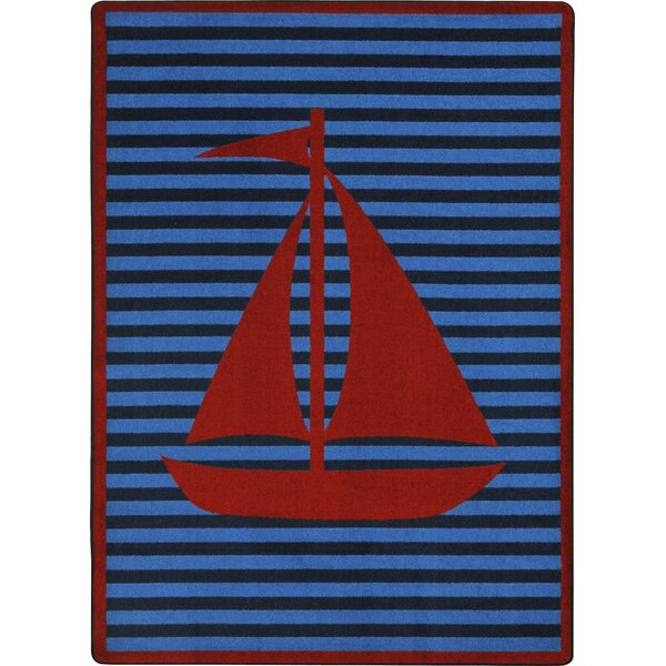 Blue/Red Area Rug by The Conestoga Trading Co.