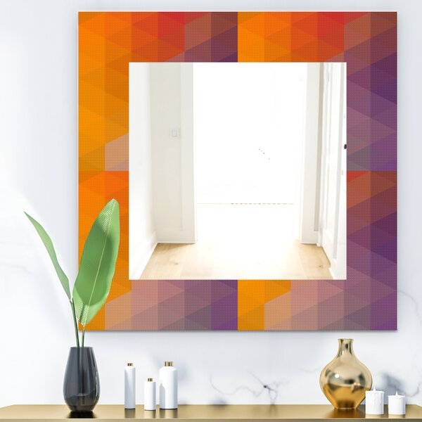 Dotted Geometry Wall Mirror
